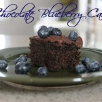 Inaugural Dessert: Blueberry Chocolate Cake