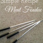 Easy Valentine's Day Dinner – Meat Fondue
