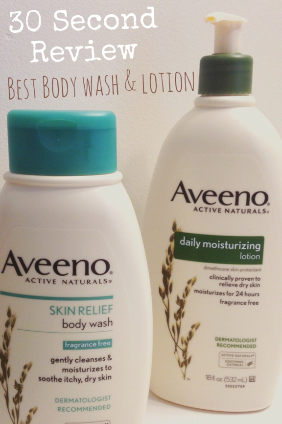 30 Second Review – Aveeno Body Wash and Lotion