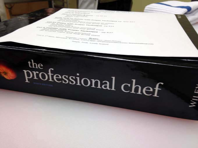 Textbook for Braise Culinary School