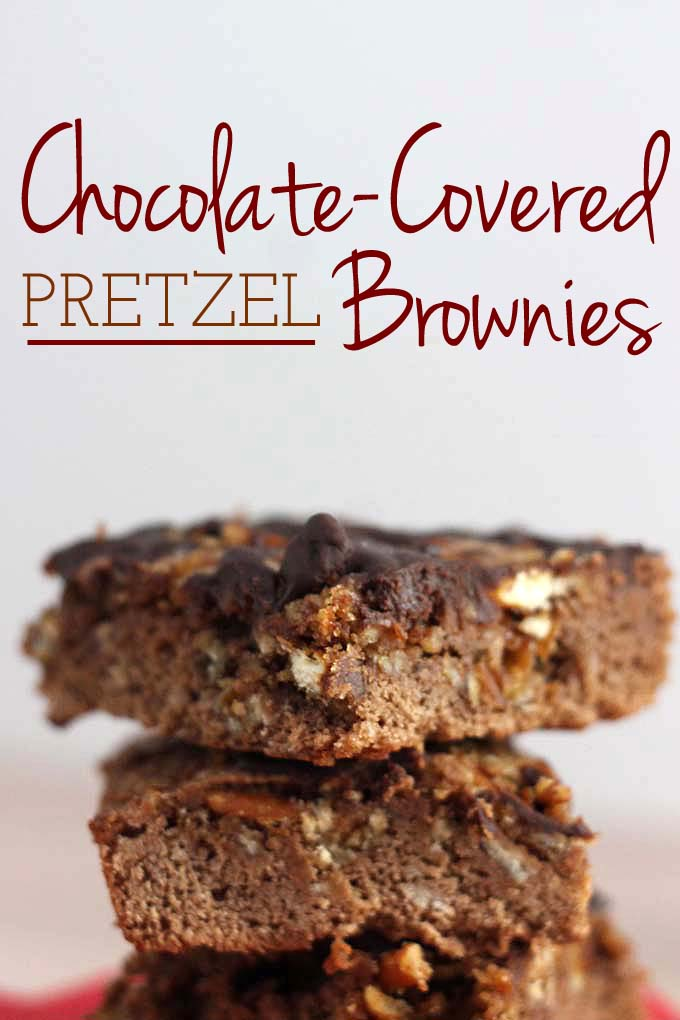 Chocolate-Covered Pretzel Brownies