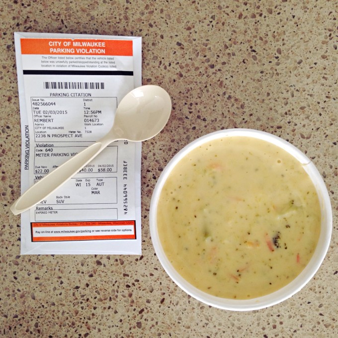 A Parking Ticket and Soup For Lunch