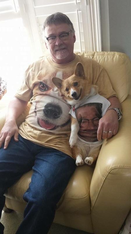 Man with Corgi Shirt