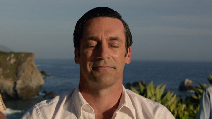 Jon Hamm Yoga Smile