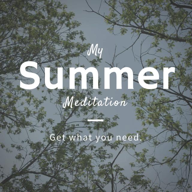 Easy Backyard Meditation